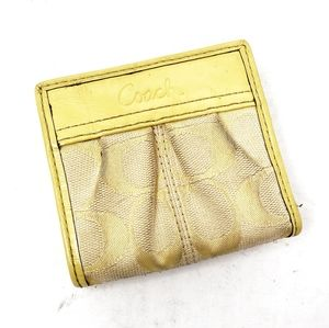 Coach | Yellow Snap Small Wallet Clutch Pouch Bag
